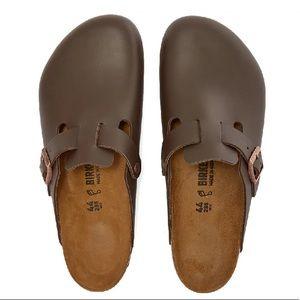 Birkenstock Boston Dark Brown Leather Clogs 37/6